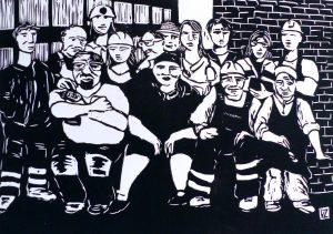 Groupe d'ouvrieres et ouvriers