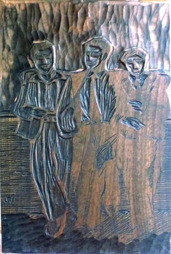 gravure sur bois, matrice de l'estampe les ritals