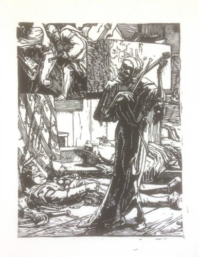 """Détail """"la mort étrangleuse"""""""